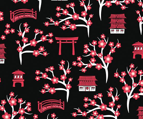 Black cherry blossom tunic