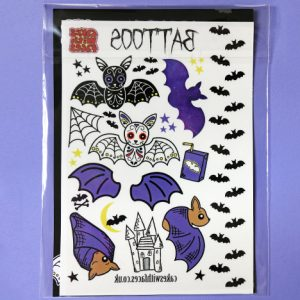 Temporary bat tattoos