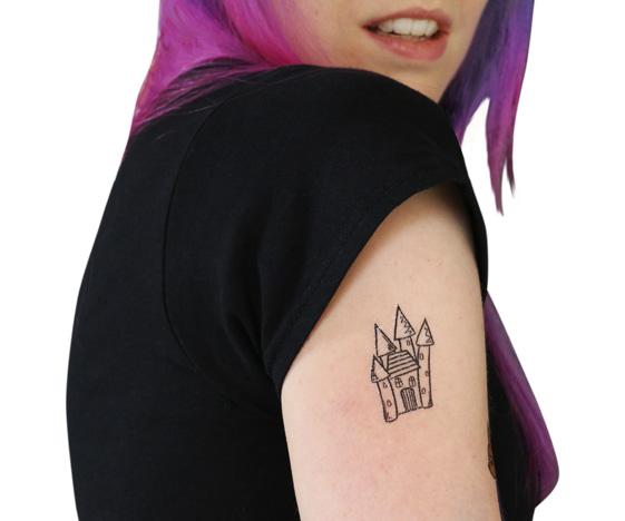 Halloween temporary tattoo