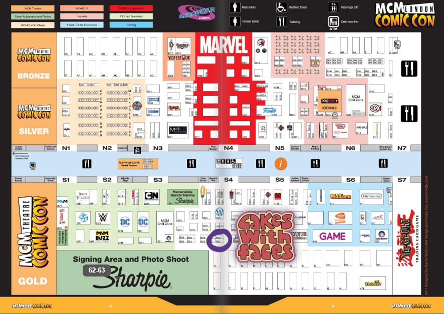 MCM London Comic Con October 2017 Floor Plan