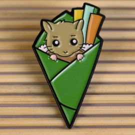 Hamster Sushi Enamel Pin Badge