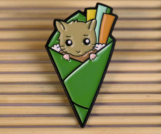 Hamster Sushi Enamel Pin Badge