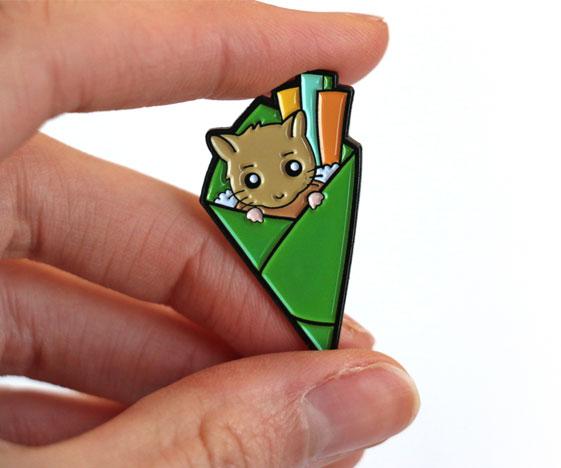 Hamster temaki pin