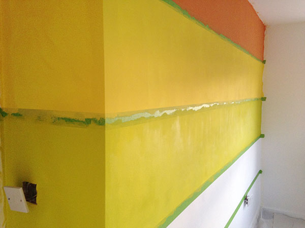Painting a rainbow wall