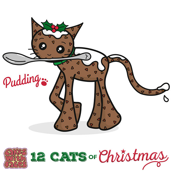 Christmas Pudding Cat
