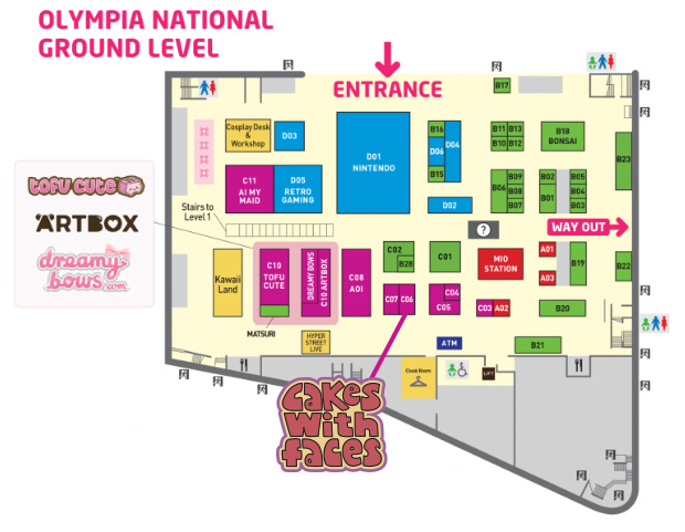 Hyper Japan 2018 - Olympia Ground Floor Plan