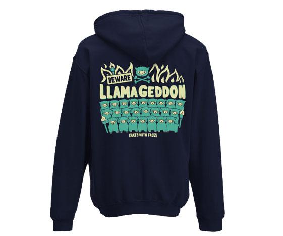 Llamageddon Hoodie Back