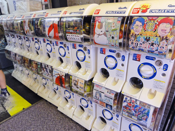 Gachapon machines in Akihabara