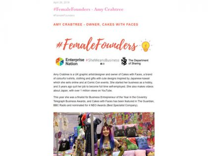 #FemaleFounders Interview for #SheMeansBusiness