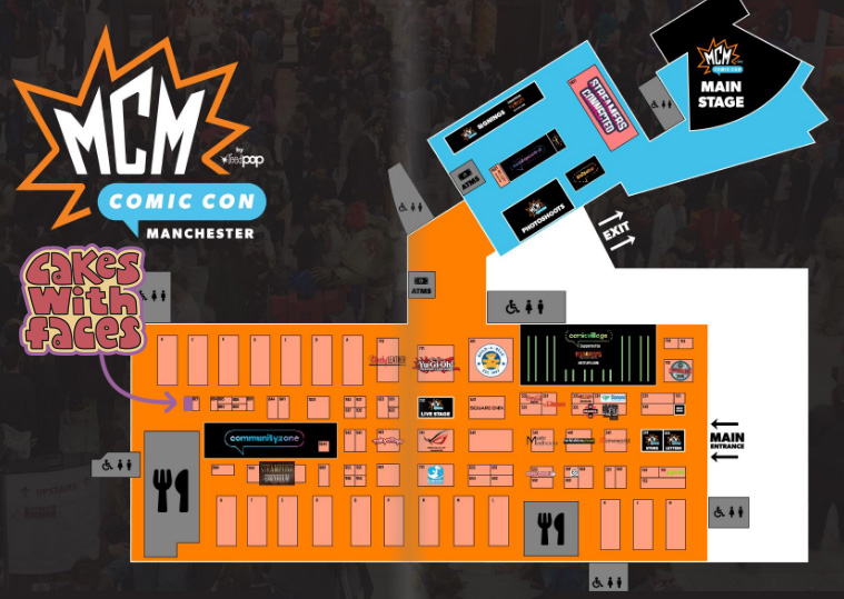 MCM Manchester Comic Con Official Floor Plan