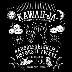 Kawaiija T-Shirt: Kawaii Ouija Board & Cat