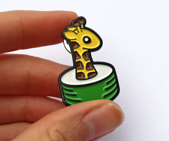Giraffe Sushi Badge
