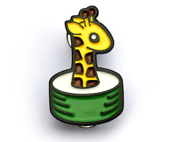 Cute Giraffe Pin Badge