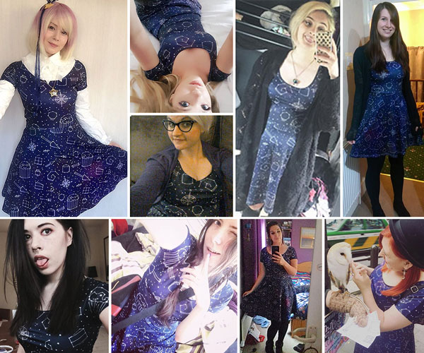 Starry Night Galaxy Dress - Customer Photos