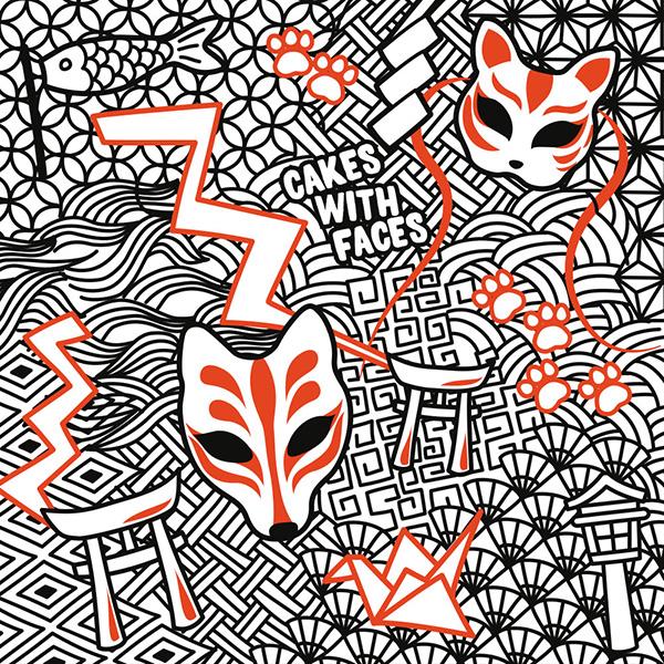 Japanese Kitsune Pattern