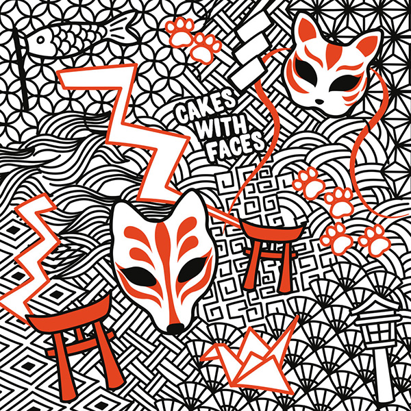 Japanese Fox Shrine Pattern