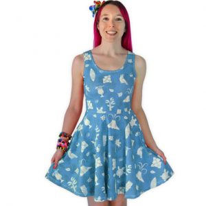 Blue Hawaiian Skater Dress