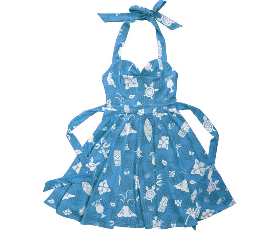 Blue Hawaiian Party Dress
