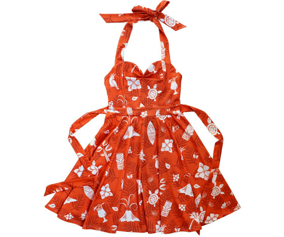 Red Hawaiian Party Dress