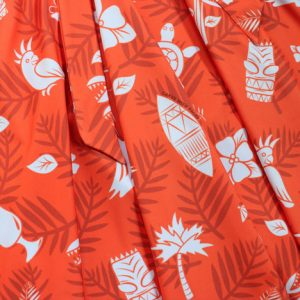 Red Hawaii Swing Dress Pattern