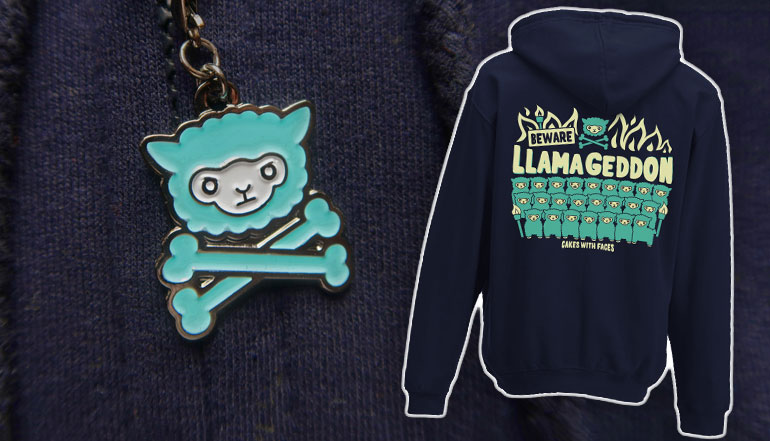 Llamageddon Zip Hoodie