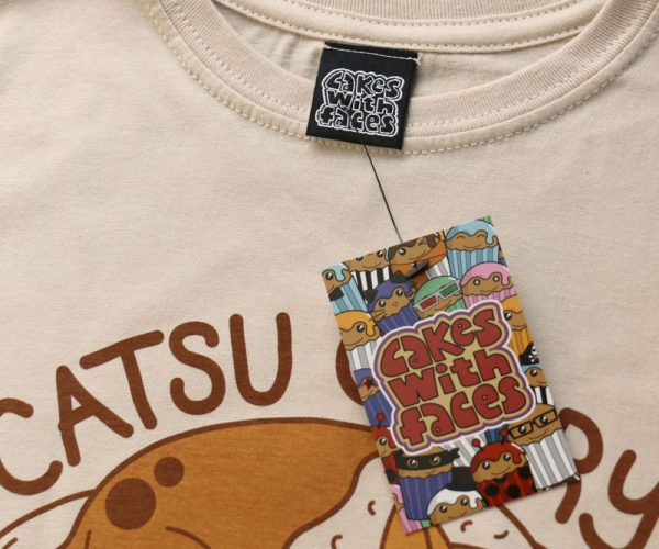 Catsu Curry T-Shirt Label