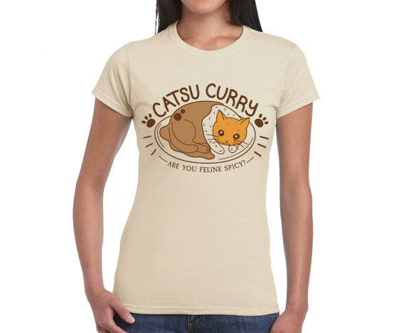Womens Slim Fit Katsu Curry T-Shirt