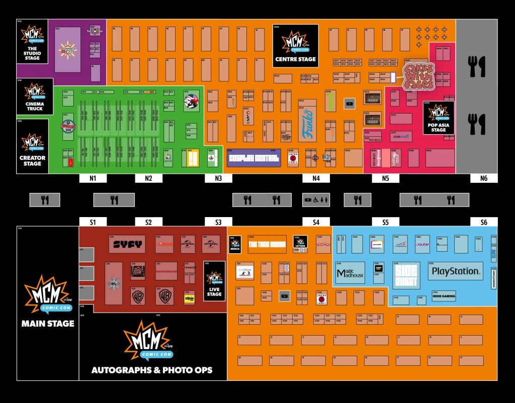 MCM London Comic Con Floor Plan
