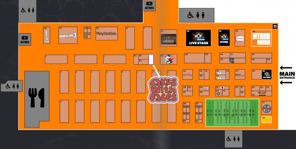 MCM Manchester Comic Con Floor Plan 2019