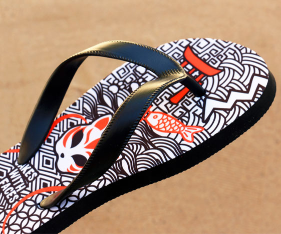 Japanese Kitsune Fox Sandals