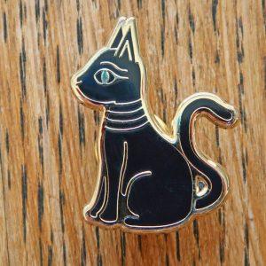 Ancient Egyptian Cat Enamel Pin Badge