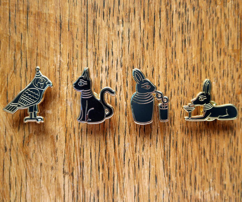 Ancient Egyptian Enamel Pin Badges