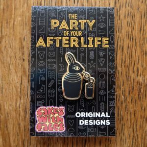 Party of Your Afterlife Rabbit Pin
