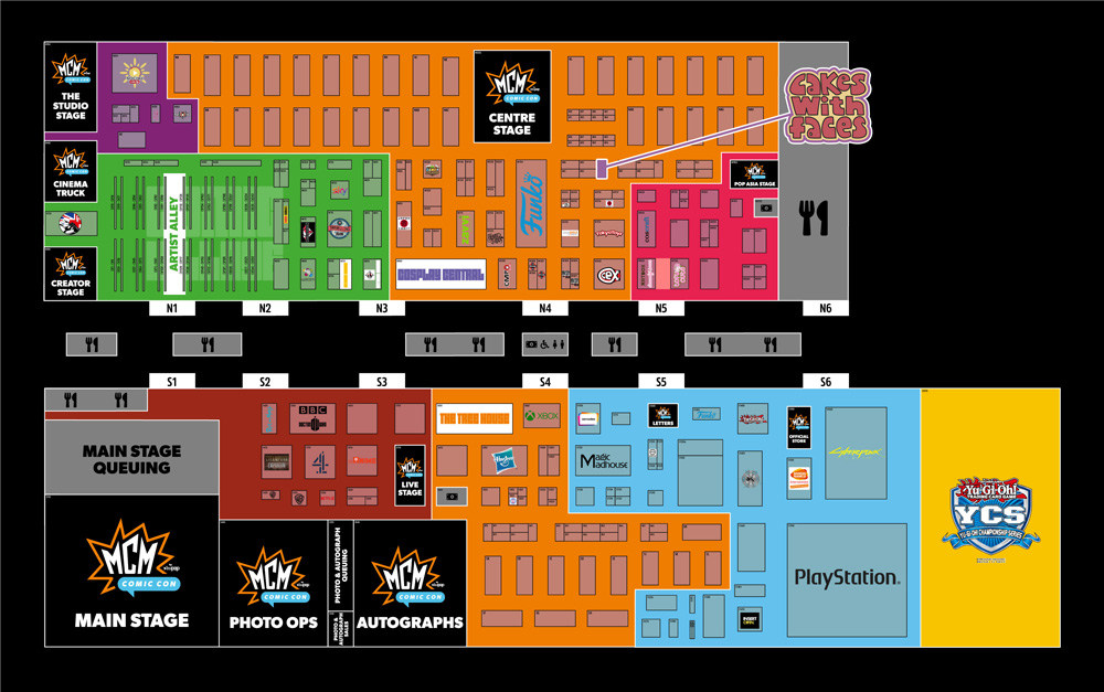 MCM London Comic Con October 2019 - Official Floor Plan