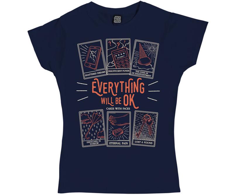 Womens Tarot Card T-Shirt