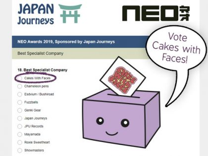 Nominated for a NEO Award 2019 – Vote for us!