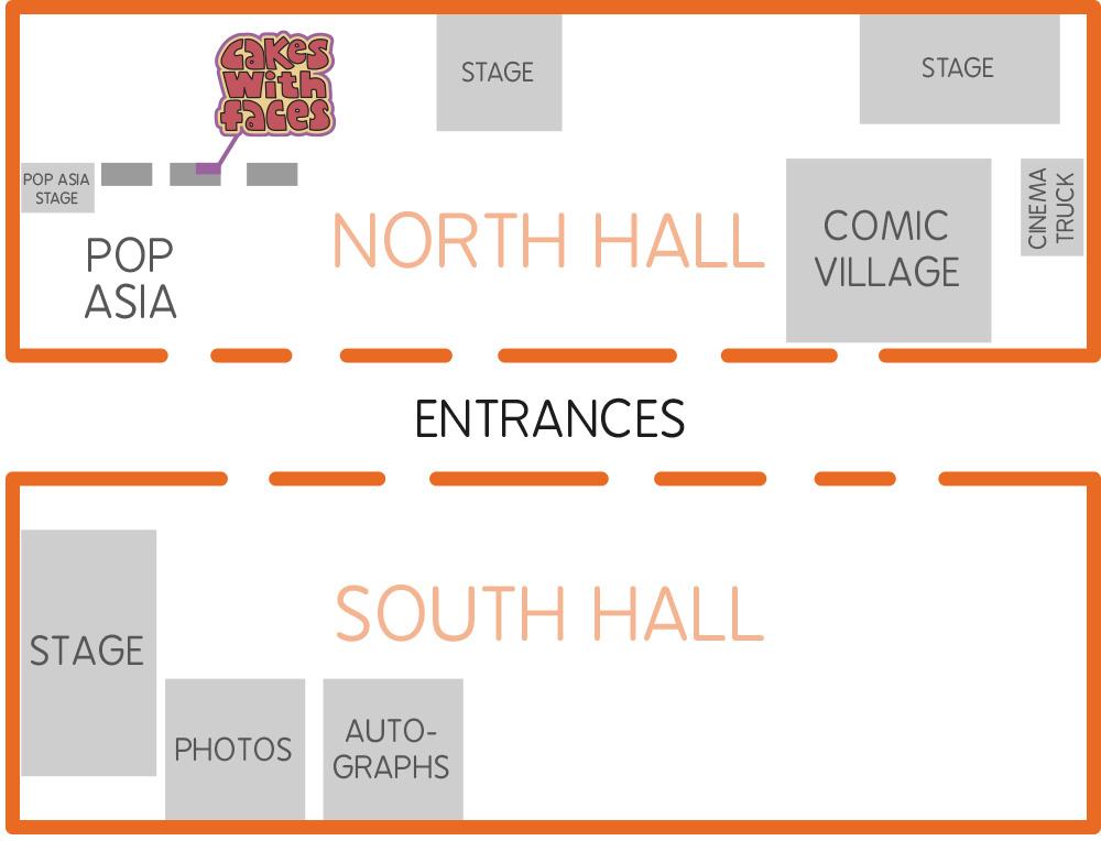 MCM London Comic Con Floor Plan May 2020