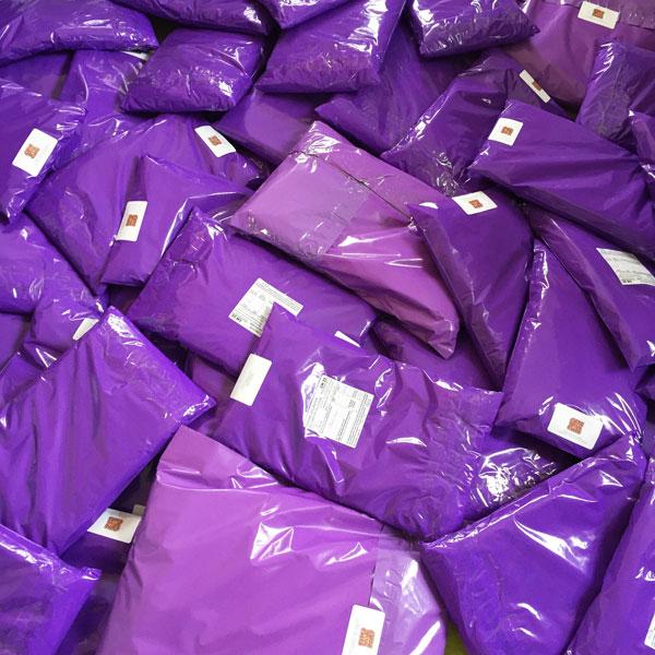 Purple Plastic Mailing Bags