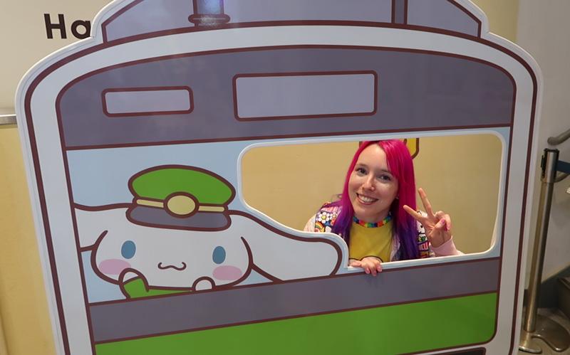 Cinnamoroll on the Yamanote Line at Kiddyland in Harajuku (Tokyo)