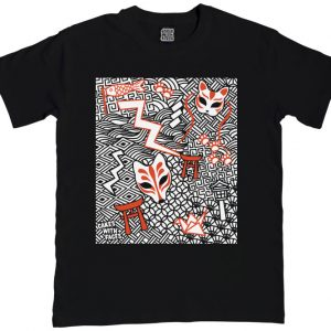 Japanese Kitsune Mens T-Shirt