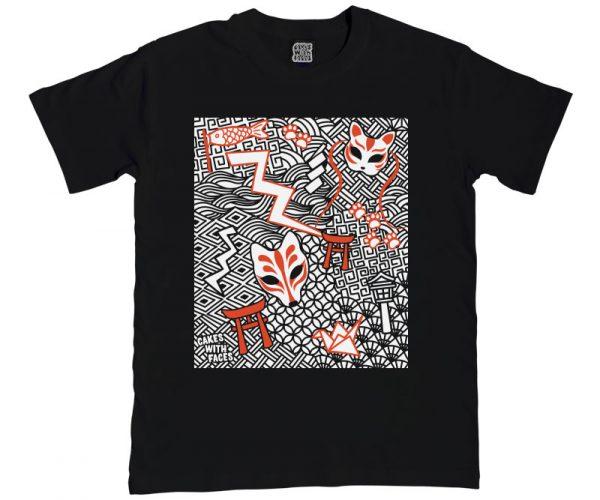 Japanese Kitsune Mens T-Shirt